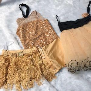 Child's gold sequin costume.